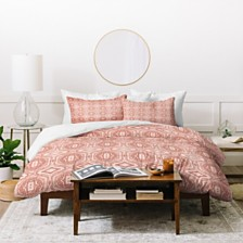Deny Designs Holli Zollinger Anthology Of Pattern Seville Marble Pink Twin Duvet Set