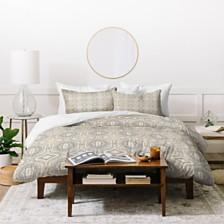 Deny Designs Holli Zollinger Anthology Of Pattern Seville Marble Grey Twin Duvet Set