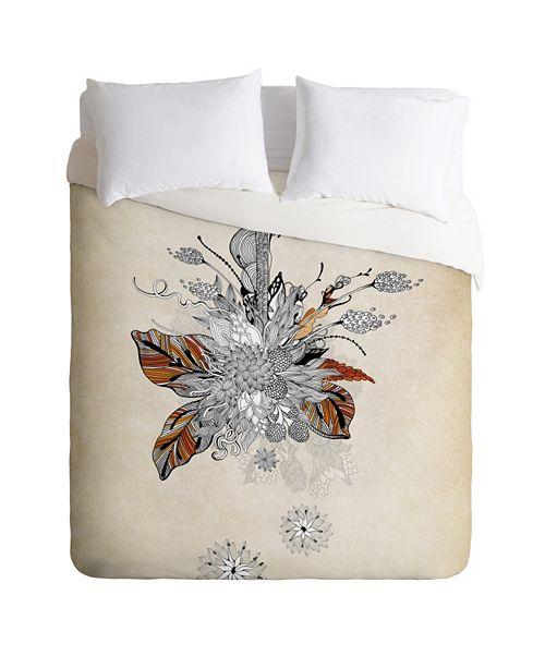 Deny Designs Iveta Abolina Floral 2 King Duvet Set