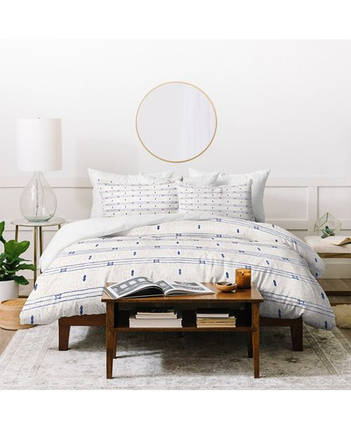 Deny Designs Holli Zollinger French Linen Stripe Queen Duvet Set