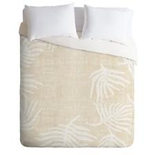 Deny Designs Holli Zollinger Palm Linen Queen Duvet Set