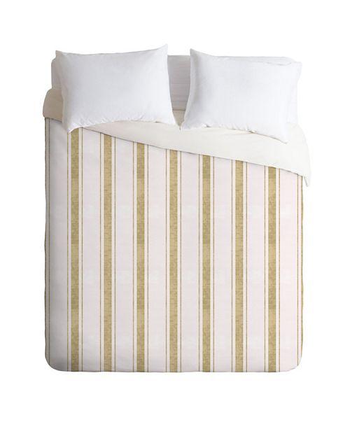 Deny Designs Holli Zollinger Aegean Jute Stripe Twin Duvet Set