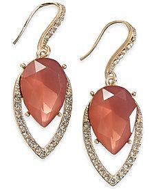 I.N.C. Gold-Tone Crystal & Stone Drop Earrings, Created for Macy's