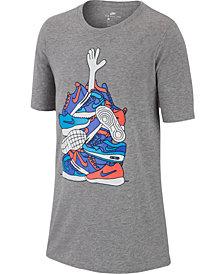 Nike Big Boys Sneaker-Print Cotton T-Shirt