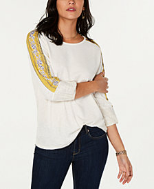 Style & Co Print-Panel Sleeved Thermal, Created for Macy's