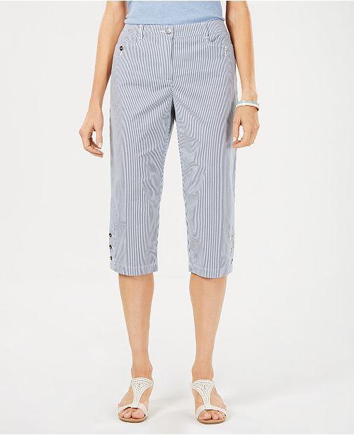 Karen Scott Striped Capris, Created For Macy's