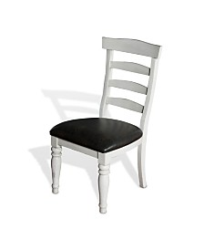 Bourbon County French Country Ladderback Chair, Cushion Seat