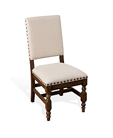 Savannah Antique Charcoal Side Chair, Cushion Seat