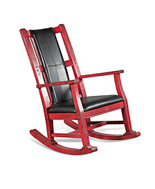 Burnt Red Rocker, Cushion Seat