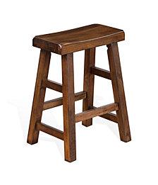 """Santa Fe 24""""H Dark Chocolate Saddle Seat Stool"""