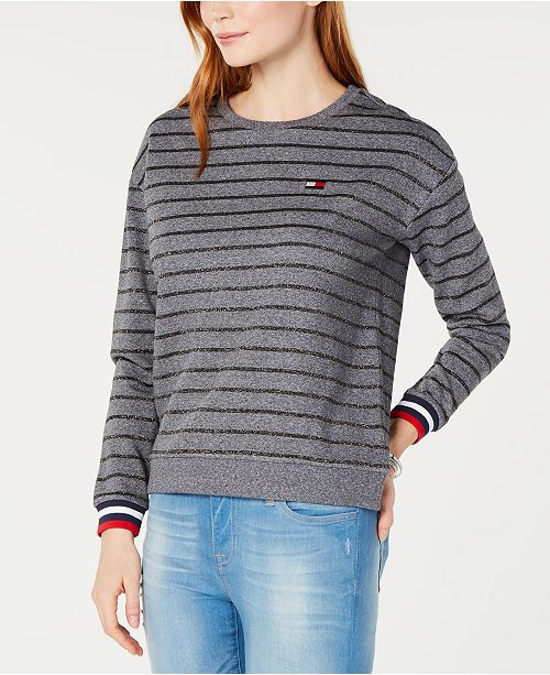 43becd813 Tommy Hilfiger Striped Sweatshirt  Tommy Hilfiger Striped Sweatshirt ...
