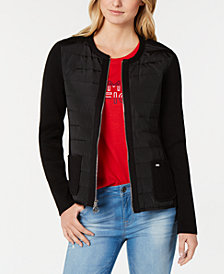 Tommy Hilfiger Ribbed Sweater Puffer Jacket, Created for Macy's