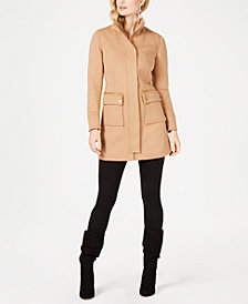 I.N.C. Petite Stand-Collar Knit Coat, Created for Macy's