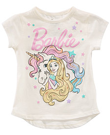 Barbie Little Girls Unicorn T-Shirt