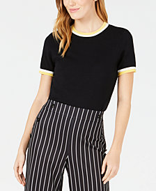 Maison Jules Ringer-Stripe Sweater, Created for Macy's