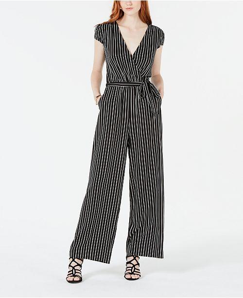 f00d6e315b8 Be Bop Juniors  Striped Wrap Jumpsuit   Reviews - Pants   Capris ...