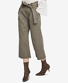 RACHEL Rachel Roy Cropped Paperbag Pants, Created for Macy's