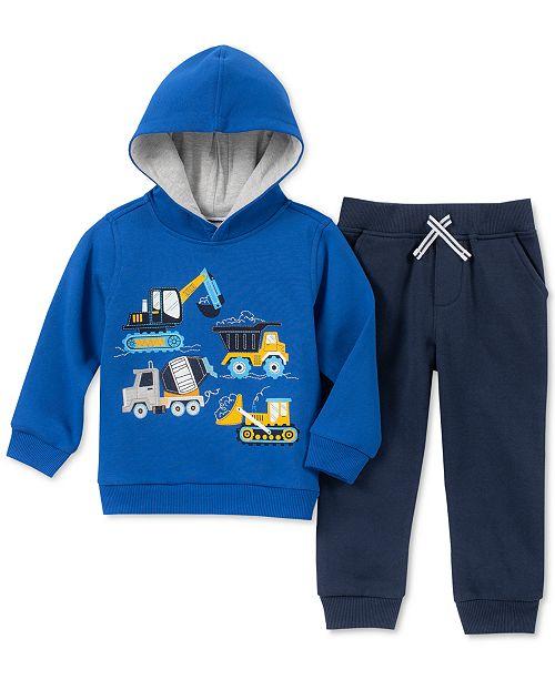 Kids Headquarters Toddler Boys 2-Pc. Construction Vehicles Graphic Fleece Hoodie & Jogger Pants