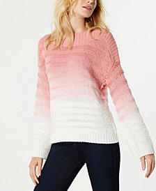 I.N.C. Ombré Cable-Knit Sweater, Created for Macy's