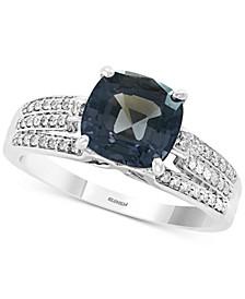 EFFY® Grey Spinel (2-5/8 ct. t.w.) & Diamond (1/5 ct. t.w.) Ring in 14k White Gold