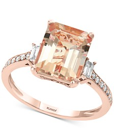 EFFY® Morganite (2-5/8 ct. t.w.) & Diamond (1/5 ct. t.w.) in 18k Rose Gold