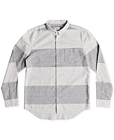 Quiksilver Men's Minoo Valley Modern-Fit Bold Stripe Shirt
