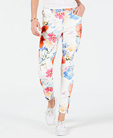 7 For All Mankind Floral-Print Skinny Jeans