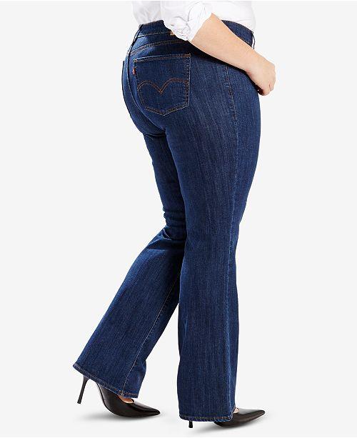 aecabb726e Levi s Plus Size Classic Bootcut Jeans   Reviews - Jeans - Plus ...