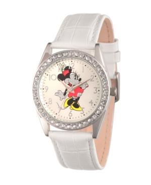 Disney Minnie Mouse Women's Silver Alloy Glitz Watch