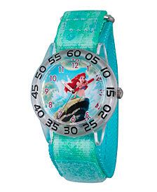 Disney Princess Ariel Girls' Clear Plastic Time Teacher Watch