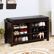 Shoe Rack Bench with 6 Shelves