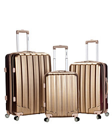 Rockland 3-Piece Metallic Polycarbonate/ABS Upright Set