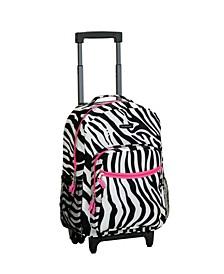 "Zebra 17"" Rolling Backpack"