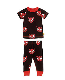 Masala Baby Unisex Organic Cotton Baby Pajamas Short Sleeve Fox
