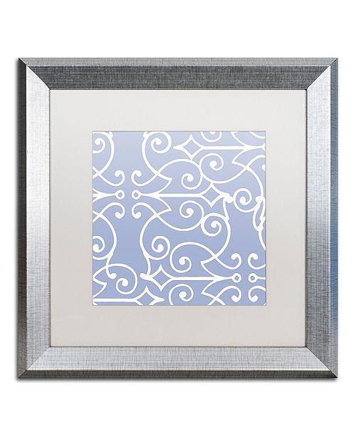 """Trademark Global Color Bakery 'Kasbah Blue I' Matted Framed Art, 16"""" x 16"""""""