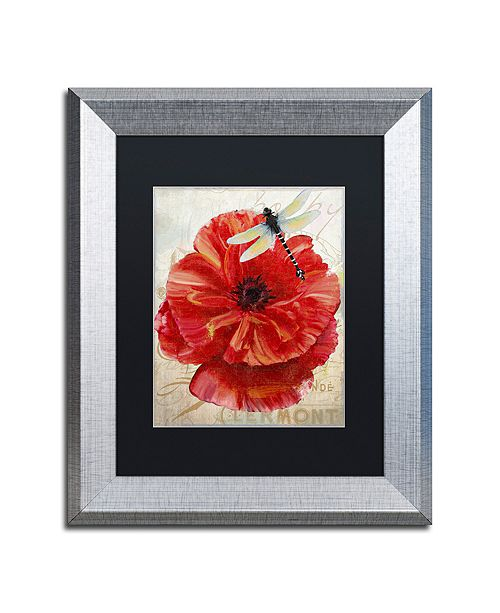 "Trademark Global Color Bakery 'Le Pavot Dragonfly' Matted Framed Art, 11"" x 14"""