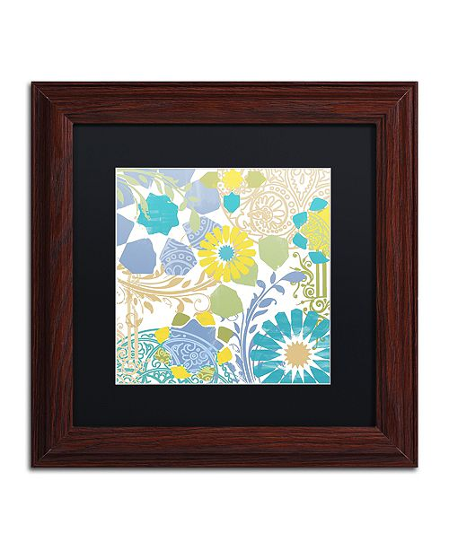 "Trademark Global Color Bakery 'Esperanza I' Matted Framed Art, 11"" x 11"""
