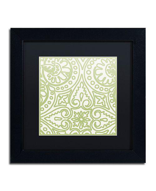 "Trademark Global Color Bakery 'Dulce Iv' Matted Framed Art, 11"" x 11"""