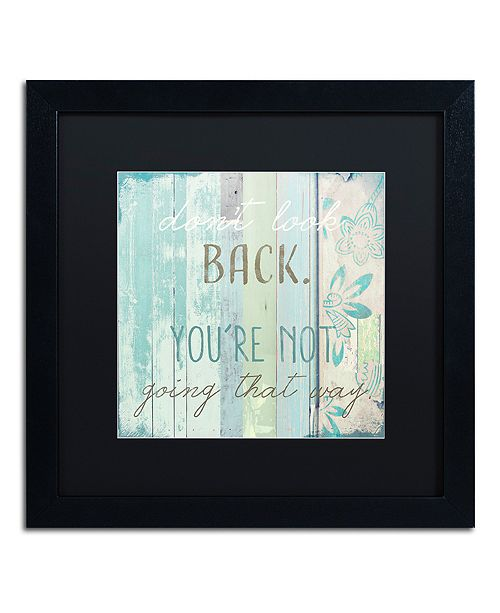 "Trademark Global Color Bakery 'Present Tense' Matted Framed Art, 16"" x 16"""