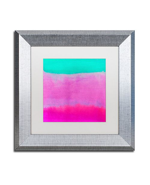 "Trademark Global Color Bakery 'Gradients Iv' Matted Framed Art, 11"" x 11"""