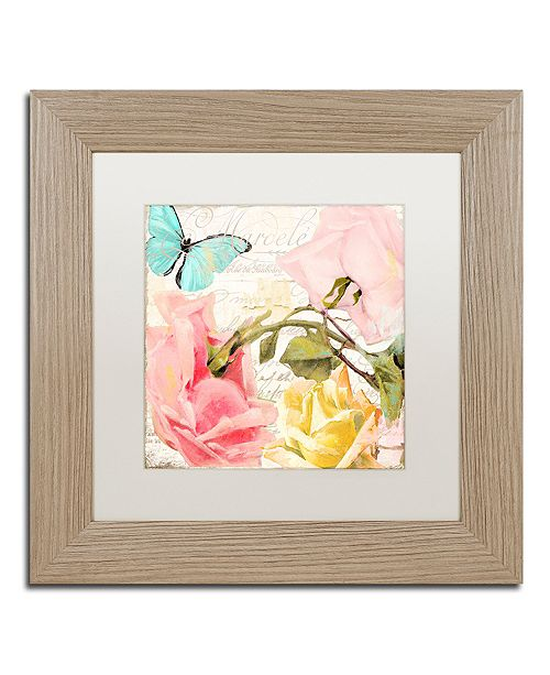"Trademark Global Color Bakery 'Florabella I' Matted Framed Art, 11"" x 11"""