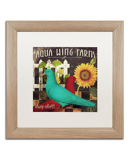 """Trademark Global Color Bakery 'Vermont Farms Ix' Matted Framed Art, 16"""" x 16"""""""