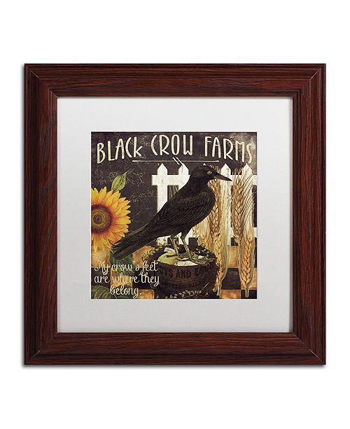 "Trademark Global Color Bakery 'Vermont Farms X' Matted Framed Art, 11"" x 11"""