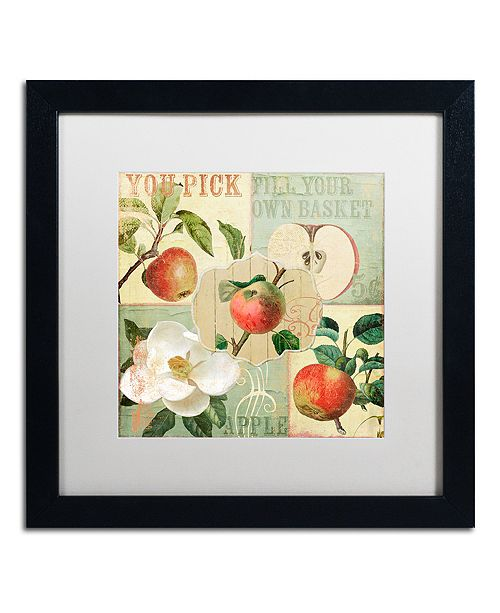 "Trademark Global Color Bakery 'Apple Blossoms Ii' Matted Framed Art, 16"" x 16"""