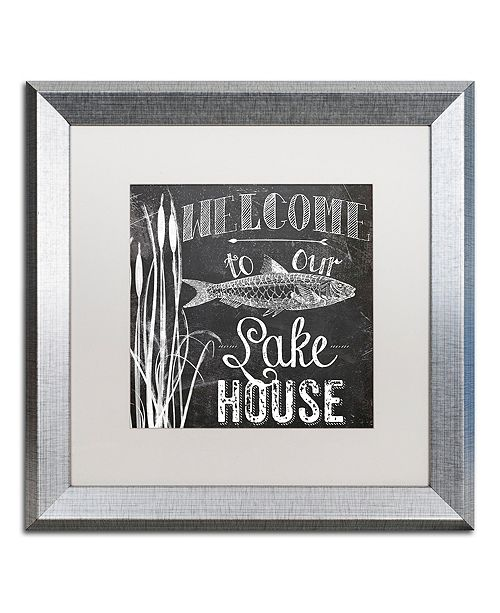 "Trademark Global Color Bakery 'Lake House I' Matted Framed Art, 16"" x 16"""