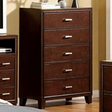Prepossessing Contemporary Wooden Chest, Brown Cherry