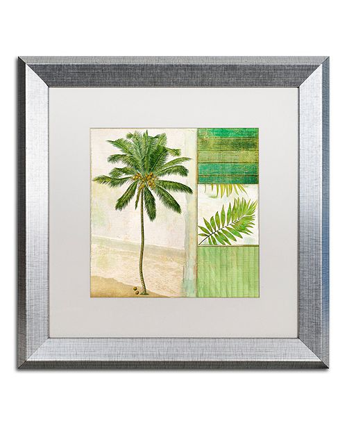 "Trademark Global Color Bakery 'Paradise Ii' Matted Framed Art, 16"" x 16"""