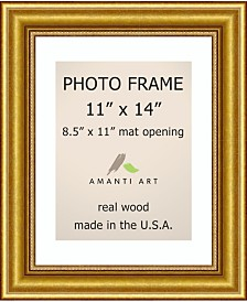 """Amanti Art Townhouse Gold 11"""" X 14"""" Matted 8.5"""" X 11"""" Opening Wall Picture Photo Frame"""