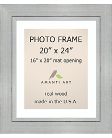 """Amanti Art Romano Silver 20"""" X 24"""" Matted to 16"""" X 20"""" Opening Wall Picture Photo Frame"""