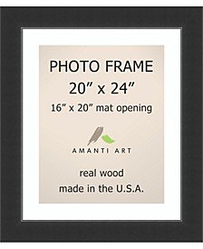 """Corvino Black 20"""" X 24"""" Matted to 16"""" X 20"""" Opening Wall Picture Photo Frame"""